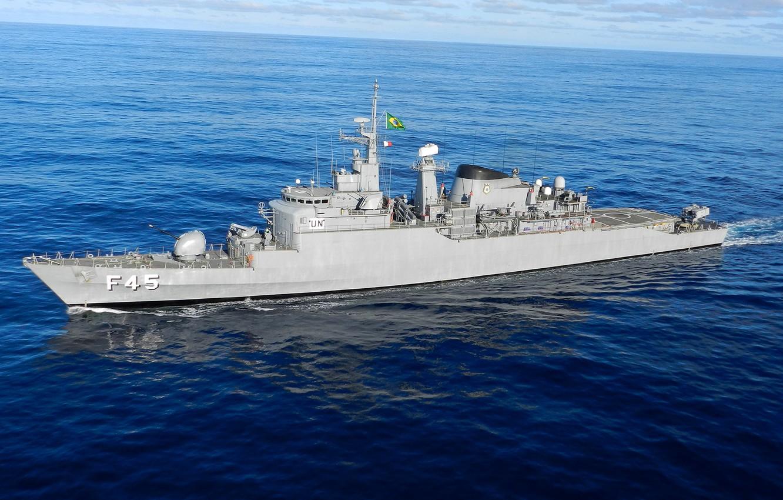 "Photo wallpaper The ocean, Ship, Brazilian Navy, The Union, F45, Class frigate ""niterói"""