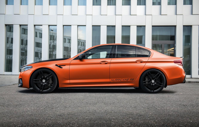 Photo wallpaper BMW, Tuning, BMW, Orange, G-Power, Tuning, Hurricane, M5, F90