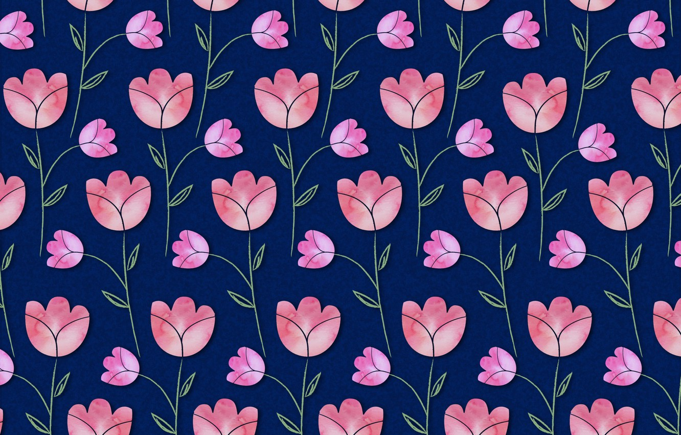 Photo wallpaper flowers, blue, background, texture, pink