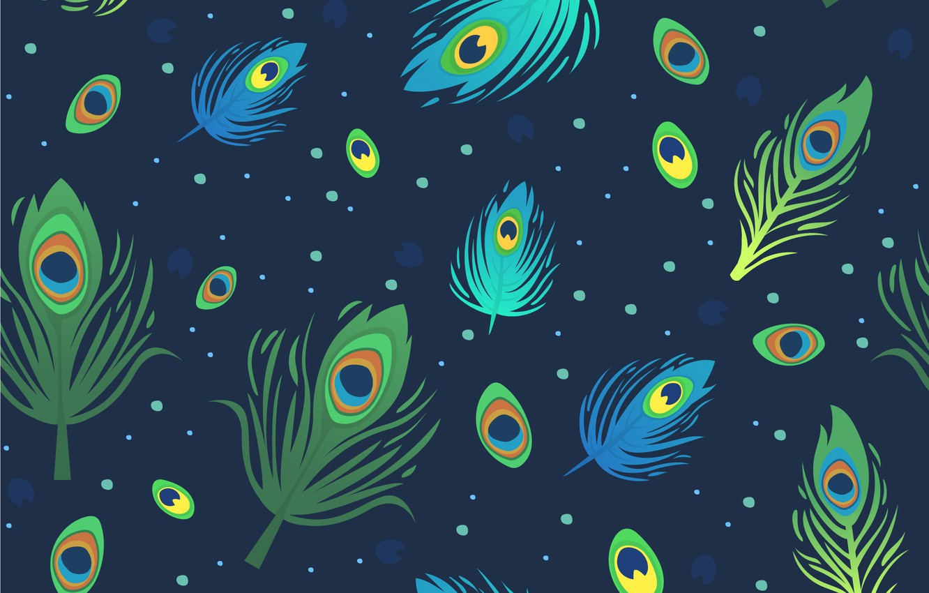 Photo wallpaper blue, background, pattern, pattern, feather, peacock
