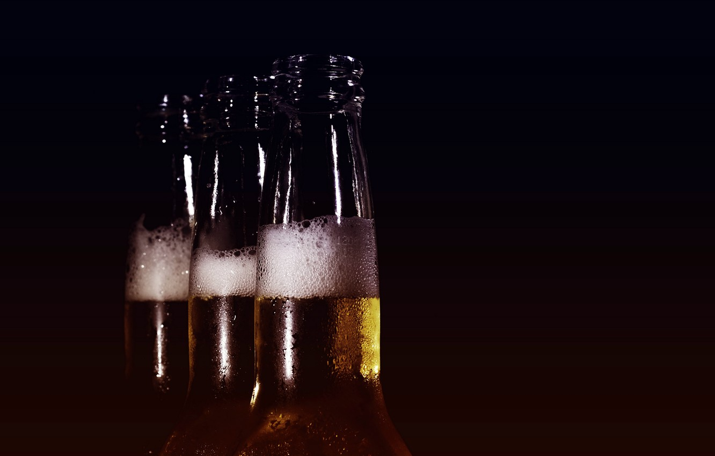 Photo wallpaper beer, beauty, bottle