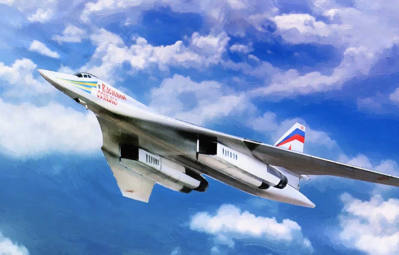 Photo wallpaper Figure, Swan, The plane, USSR, Russia, Aviation, BBC, Bomber, Tupolev, Tu 160, The plane, The ...