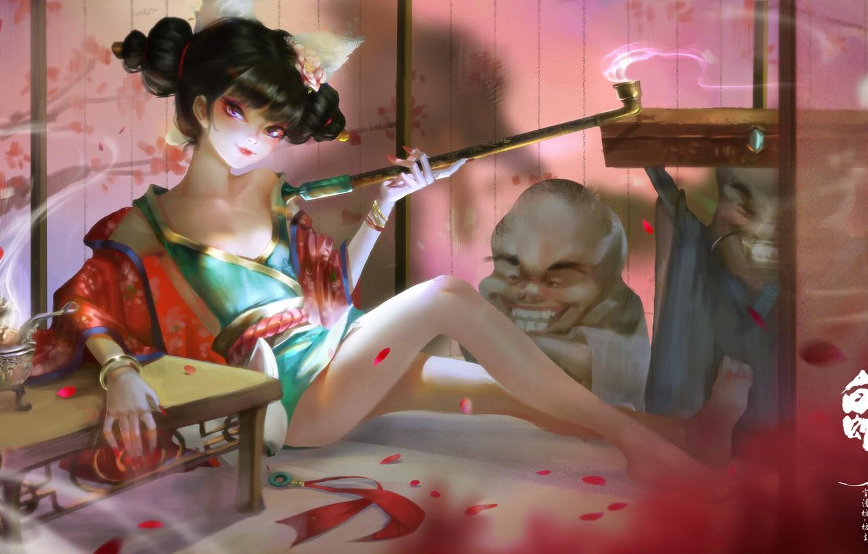 Photo wallpaper anime, art, White Snake-the origin, ZM -PANDA