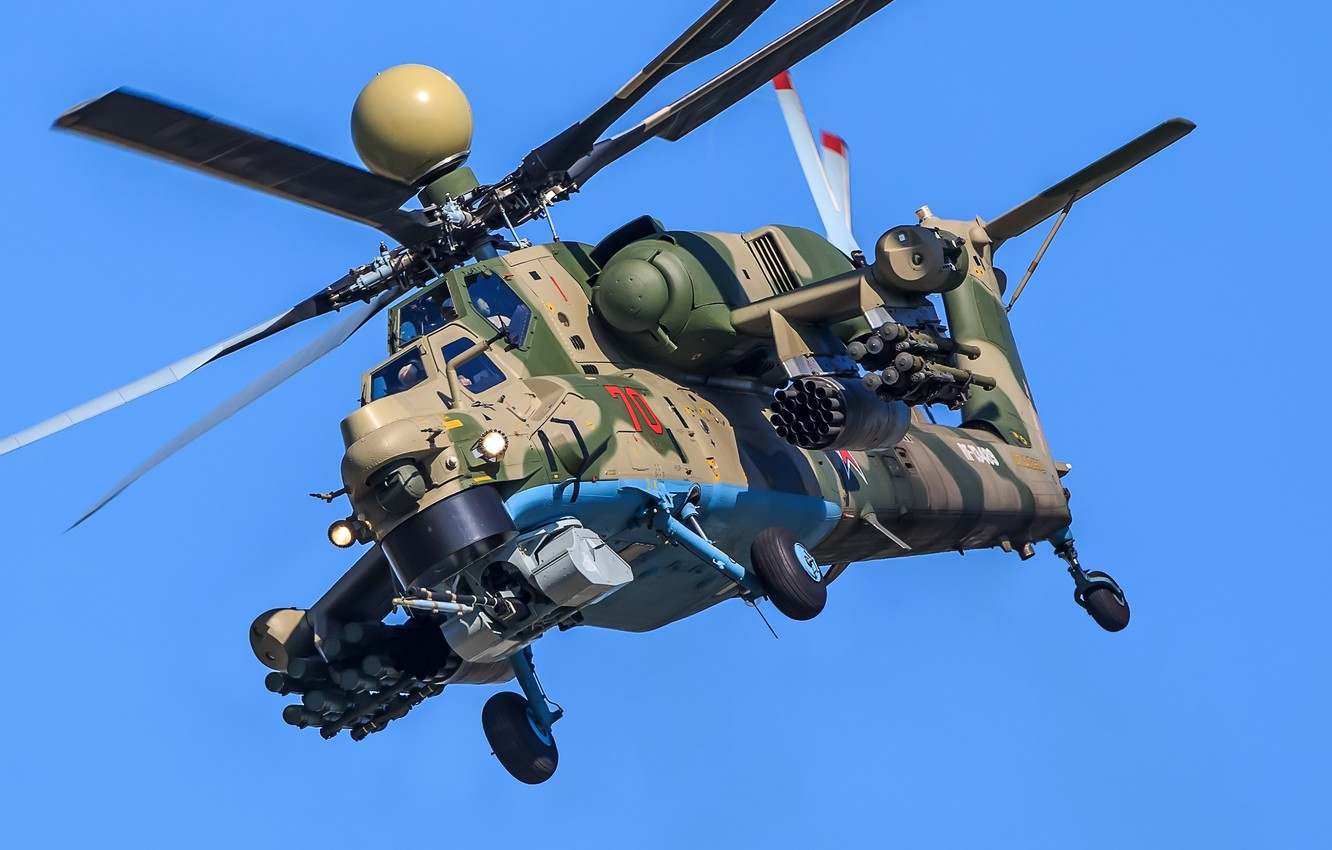 """Photo wallpaper helicopter, attack helicopter, Mi-28NM """"Night superexotic"""", Mi-28NM"""
