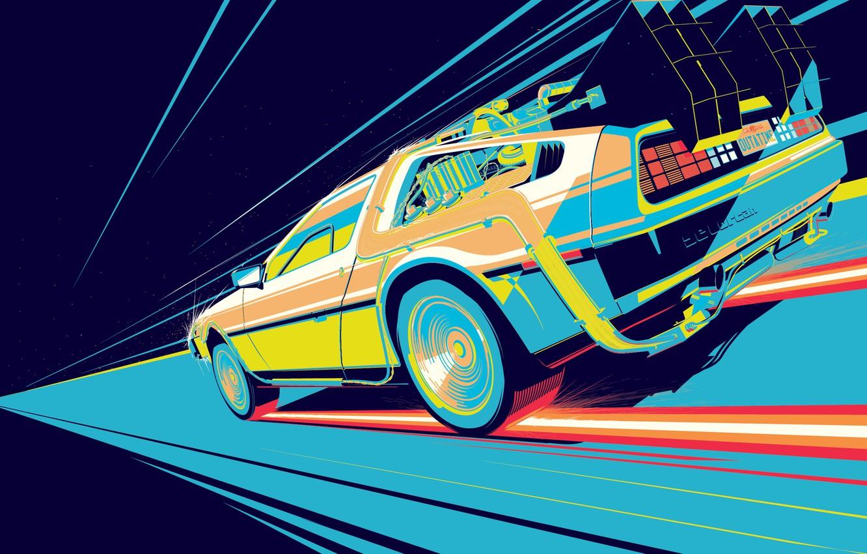Photo wallpaper Auto, Figure, Machine, DeLorean DMC-12, The film, DeLorean, DMC-12, Fiction, DMC, Back to the Future, …