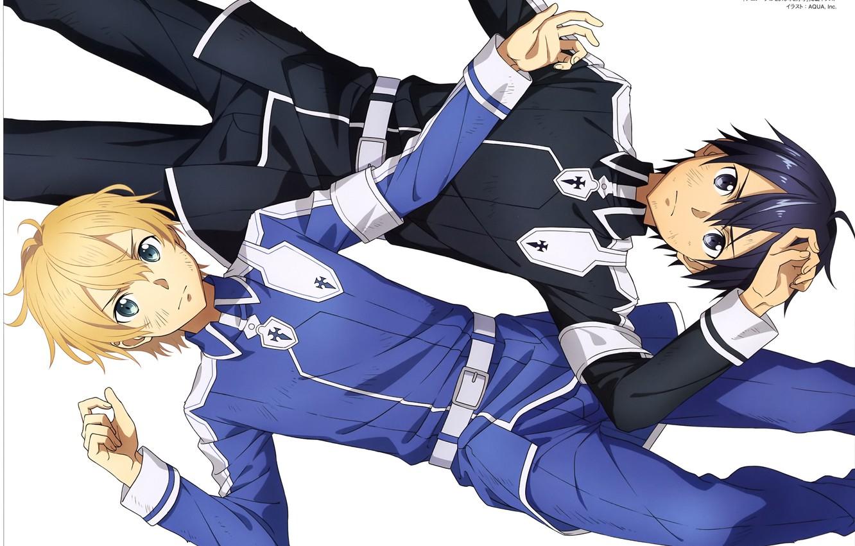 Photo wallpaper Kirito, Kirigaya Kazuto, two guys, SAO, Eugeo, Sword Art Online Alicization, Sword Art Online Alicization, …