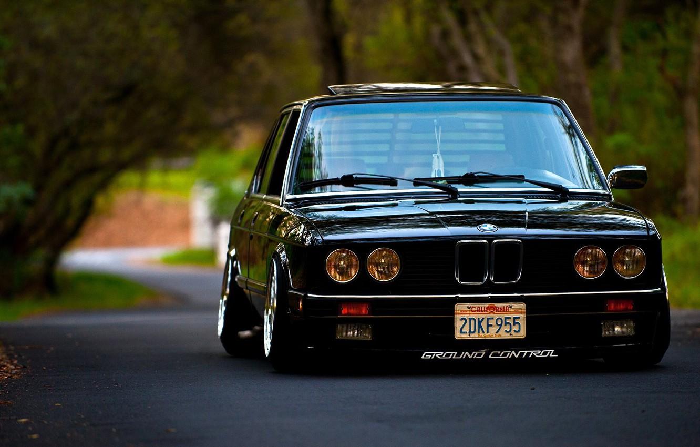 Photo wallpaper BMW, E28, STANCE, 5-Series, 535I