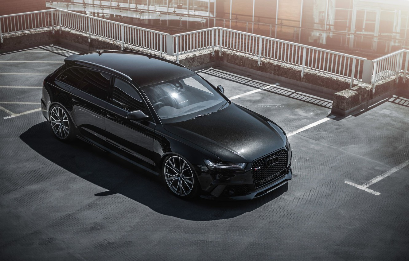 Photo wallpaper Audi, Audi, auto, Black, RS6, рс6