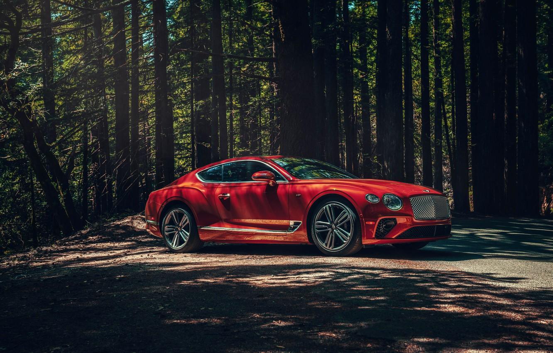 Photo wallpaper Bentley, Continental GT, V8, 2019
