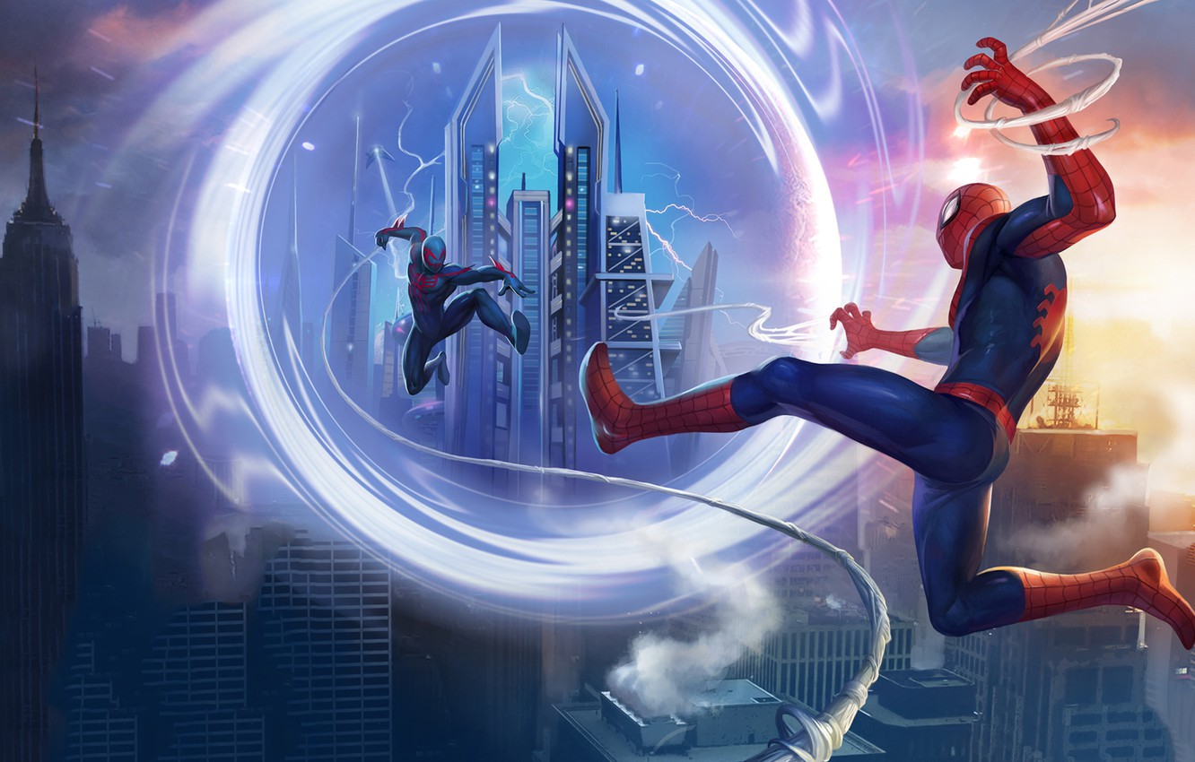 Photo wallpaper portal, game, android, Marvel, IOS, spider-man unlimited, spider-verse, Gameloft