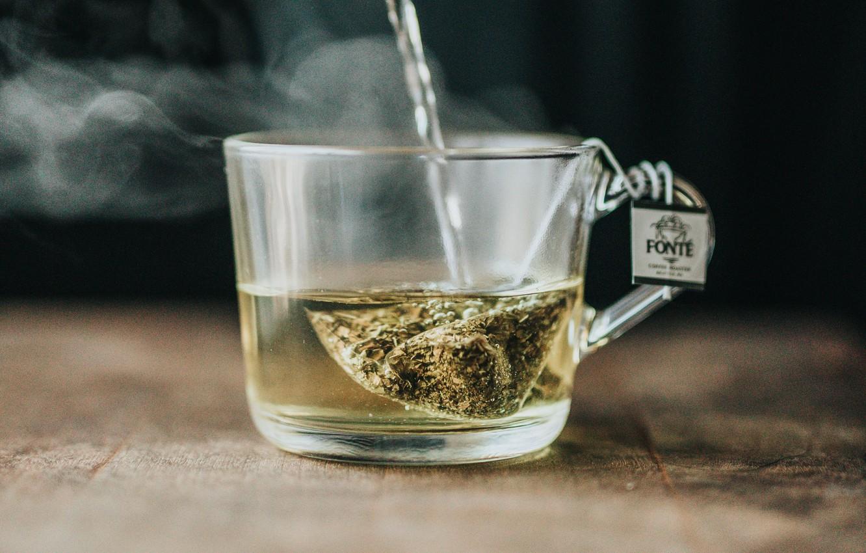 Photo wallpaper tea, couples, Cup, jet, bag