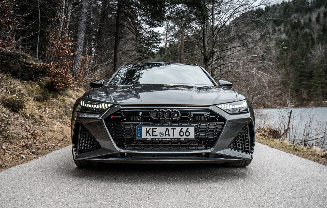 Photo wallpaper Audi, front view, ABBOT, Before, RS6, RS 6, 2020