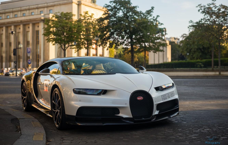 Photo wallpaper city, the city, Bugatti, hypercar, Chiron