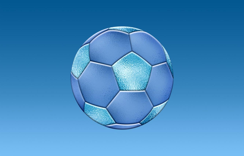 Photo wallpaper game, football, sport, the ball, blue, sports games, soccer, blue texture