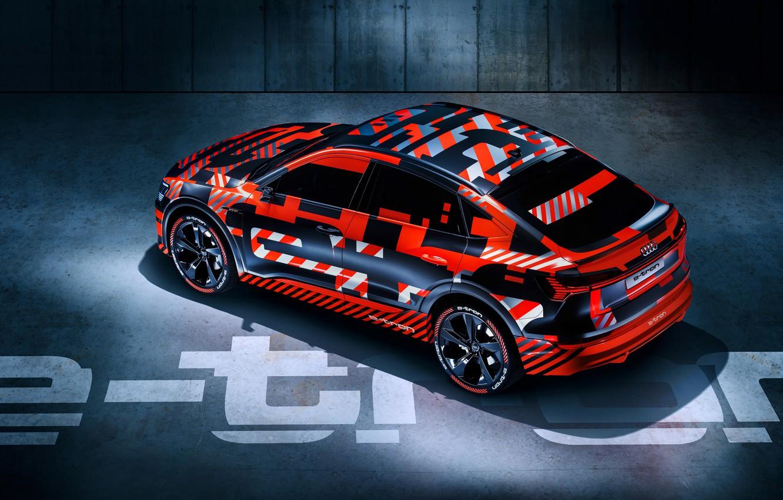 Photo wallpaper Audi, Audi, the concept, crossover, electric, 2019, Audi e-tron Sportback prototype