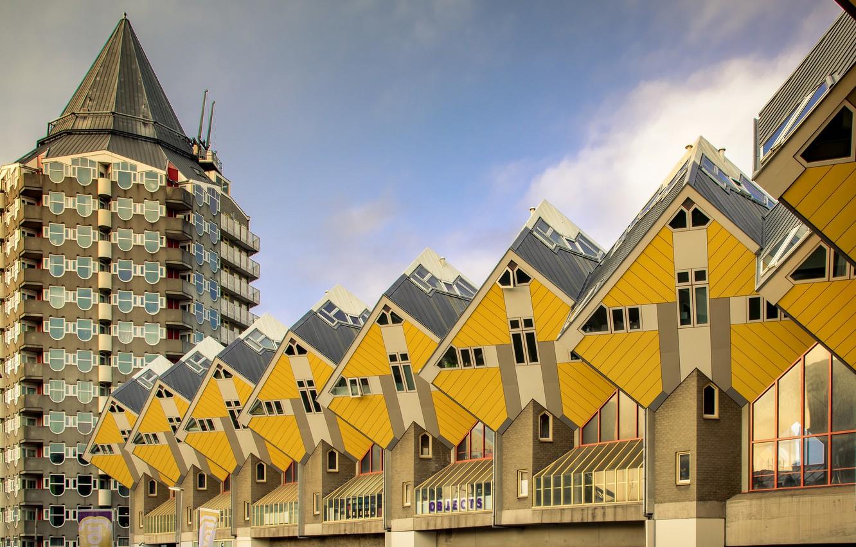 Photo wallpaper Netherlands, architecture, Holland, Rotterdam