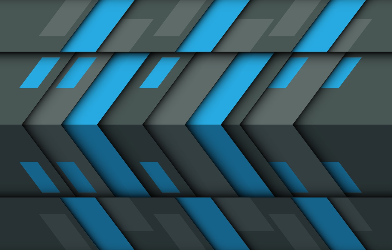 Photo wallpaper blue, grey, texture, geometry, abstraction 3d