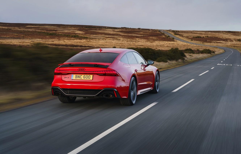 Photo wallpaper movement, Audi, markup, back, RS 7, 2020, UK version, RS7 Sportback