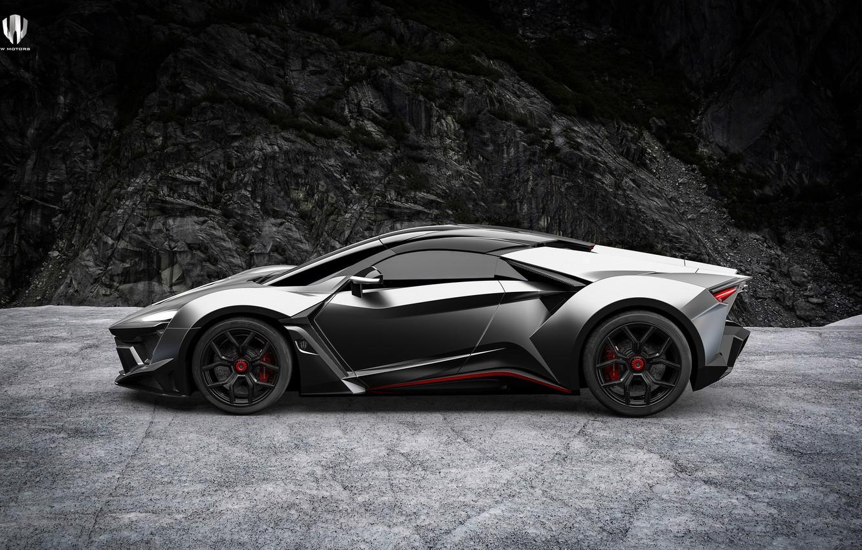 Photo wallpaper Auto, Machine, Rendering, Side view, SuperSport, Fenyr, Transport & Vehicles, Benoit Fraylon, Game design, by …