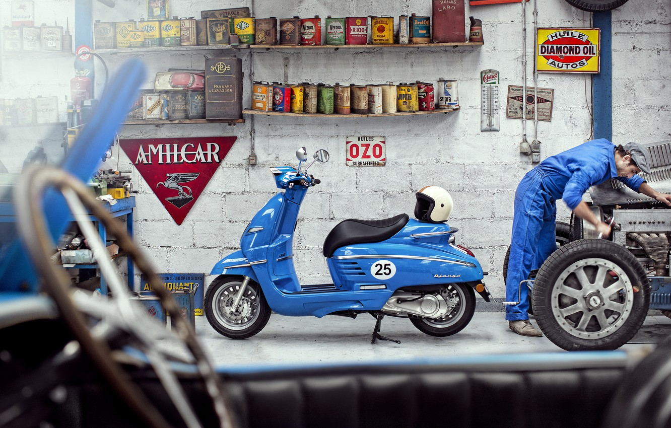 Photo wallpaper Peugeot, Peugeot, scooter, Peugeot Scooter, Django Sport, Peugeot Django Sport