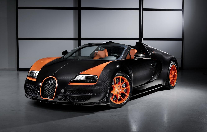 "Photo wallpaper Roadster, Veyron, Grand Sport, 2013, ""Speed"""