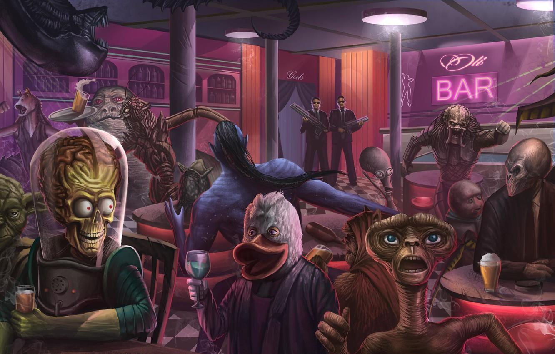 Photo wallpaper Figure, Monster, Star Wars, Style, Stranger, Predator, Movie, Fantasy, Avatar, Art, Star Wars, Predator, Alien, …