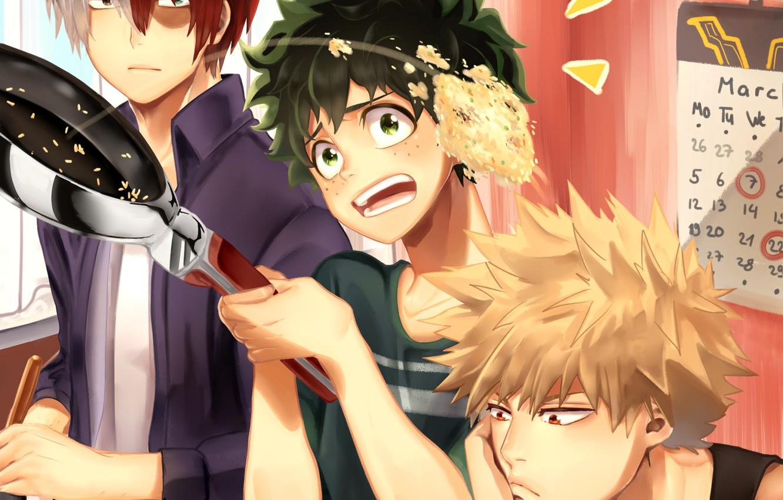Wallpaper Fanart Boku No Hero Academy Todoroki Shouto