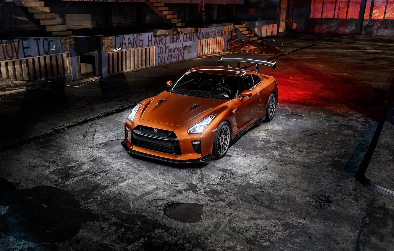 Photo wallpaper GTR, Light, Nissan, R35, Graphity, Bronze