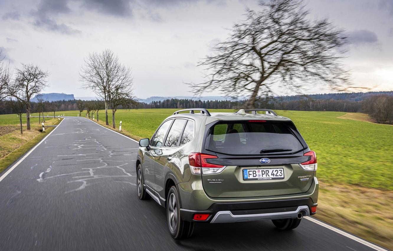 Photo wallpaper road, Subaru, crossover, Forester, 2019