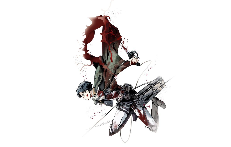 Wallpaper Weapons Blood Art Cloak Attack Of The Titans Shingeki No Kyojin Corporal Levi Levi Ackerman By Redwarrior3 Images For Desktop Section Syonen Download