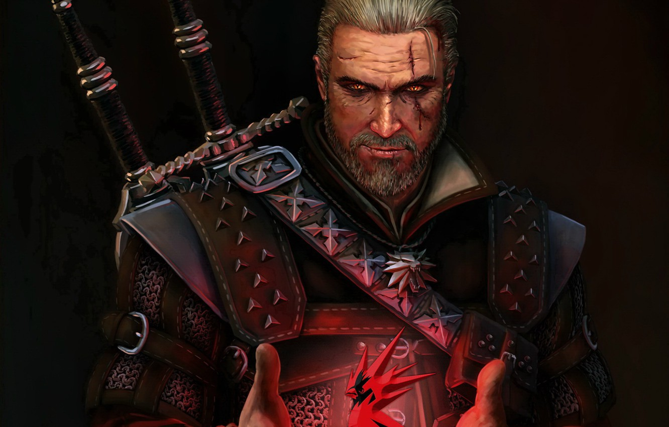Photo wallpaper the witcher, the Witcher, character, Geralt, Geralt of Rivia, CDProjekt RED, Geralt From Rivia, monster …