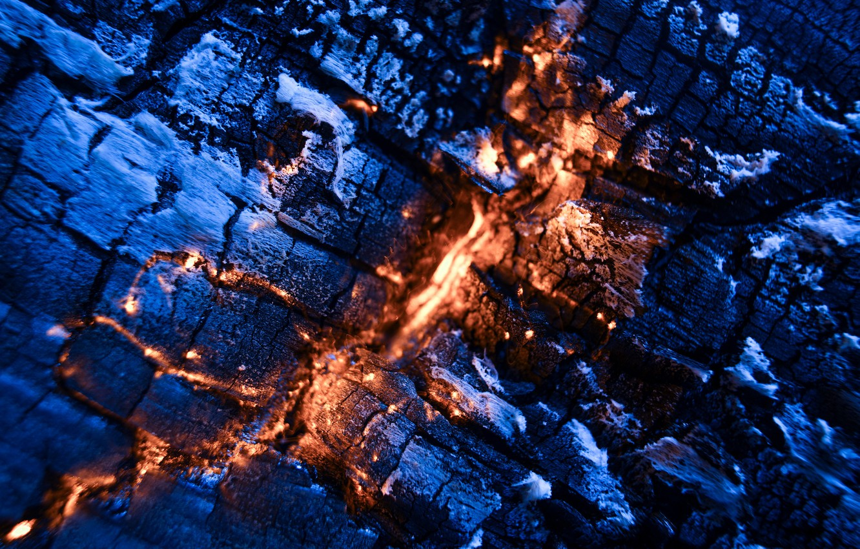 Photo wallpaper macro, fire, coal