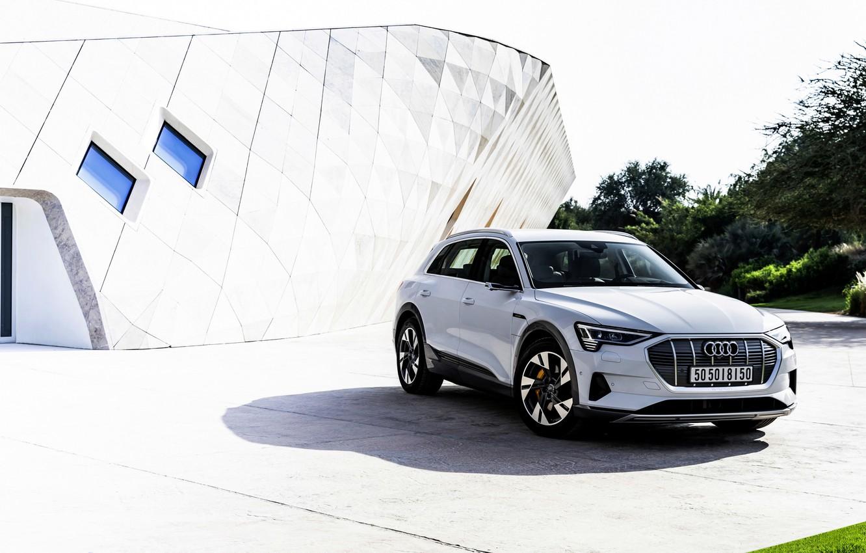 Photo wallpaper white, Audi, the building, E-Tron, 2019