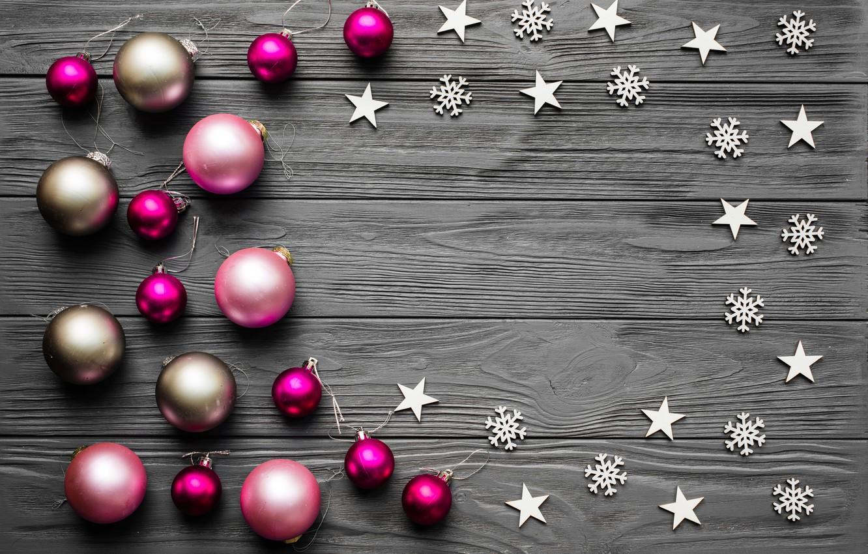 Photo wallpaper decoration, balls, New Year, Christmas, Christmas, balls, wood, New Year, decoration, Merry