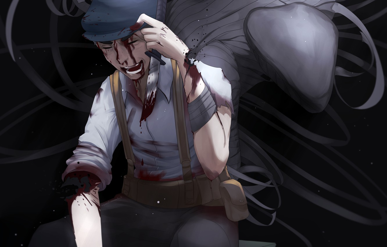Photo wallpaper smile, blood, male, wounds, Gato, immortal, Ajin: Demi-Human, Adzhin