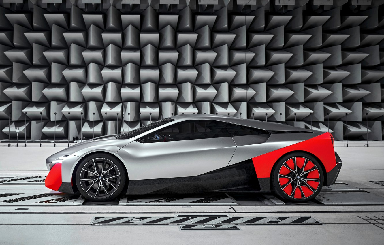 Photo wallpaper coupe, BMW, 2019, on wall background, Vision M NEXT Concept