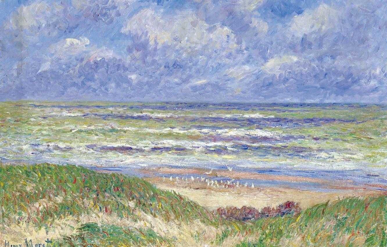 Photo wallpaper landscape, picture, Henri Sea, Henry Moret, North Sea