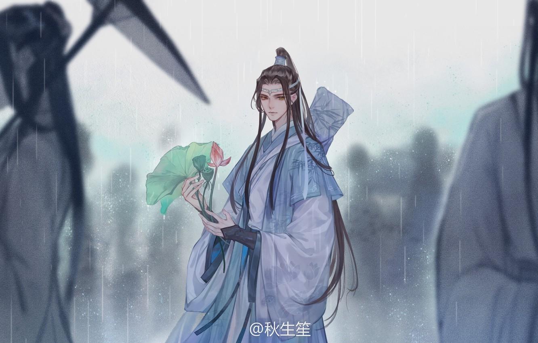 Photo wallpaper people, umbrella, the shower, long hair, Lotus leaf, Chinese clothing, Mo Dao Zu Shi, Master …