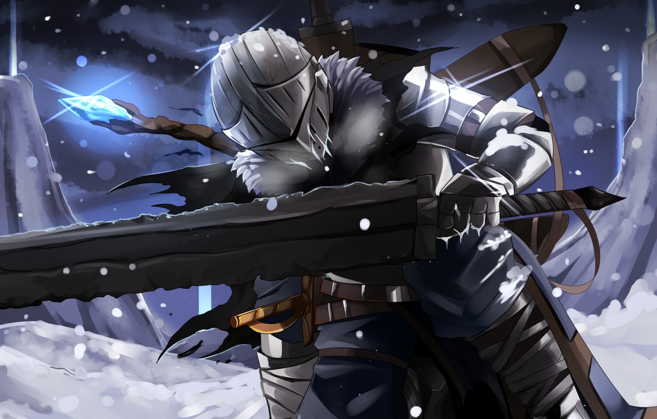 Photo wallpaper winter, armor, helmet, knight