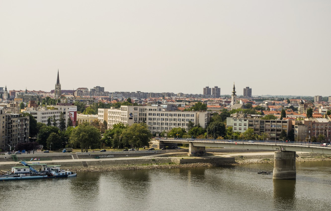 Photo wallpaper Home, Serbia, Bridges, Novi Sad