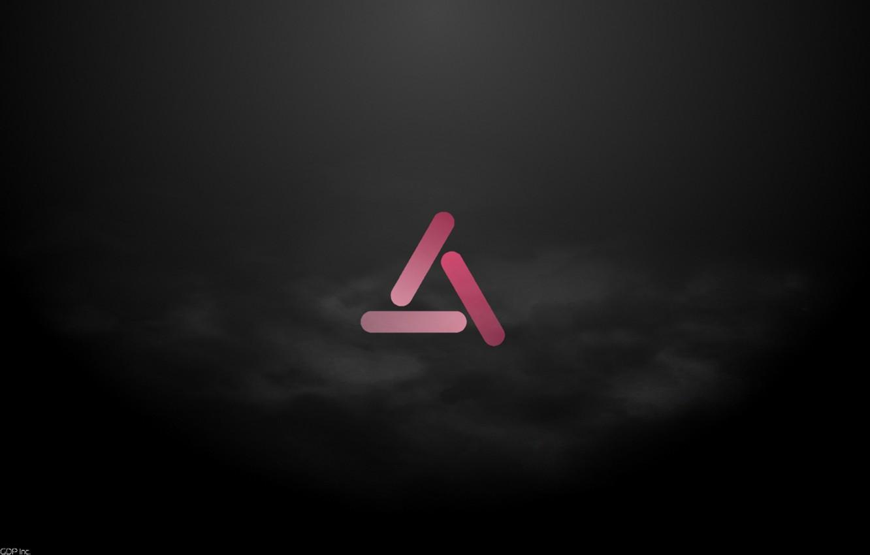 Photo wallpaper Pink, Black, Smoke, Minimalism, GDP