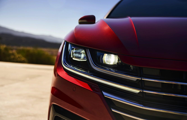 Photo wallpaper red, the hood, Volkswagen, liftback, Arteon, 2019, SEL Premium R-Line