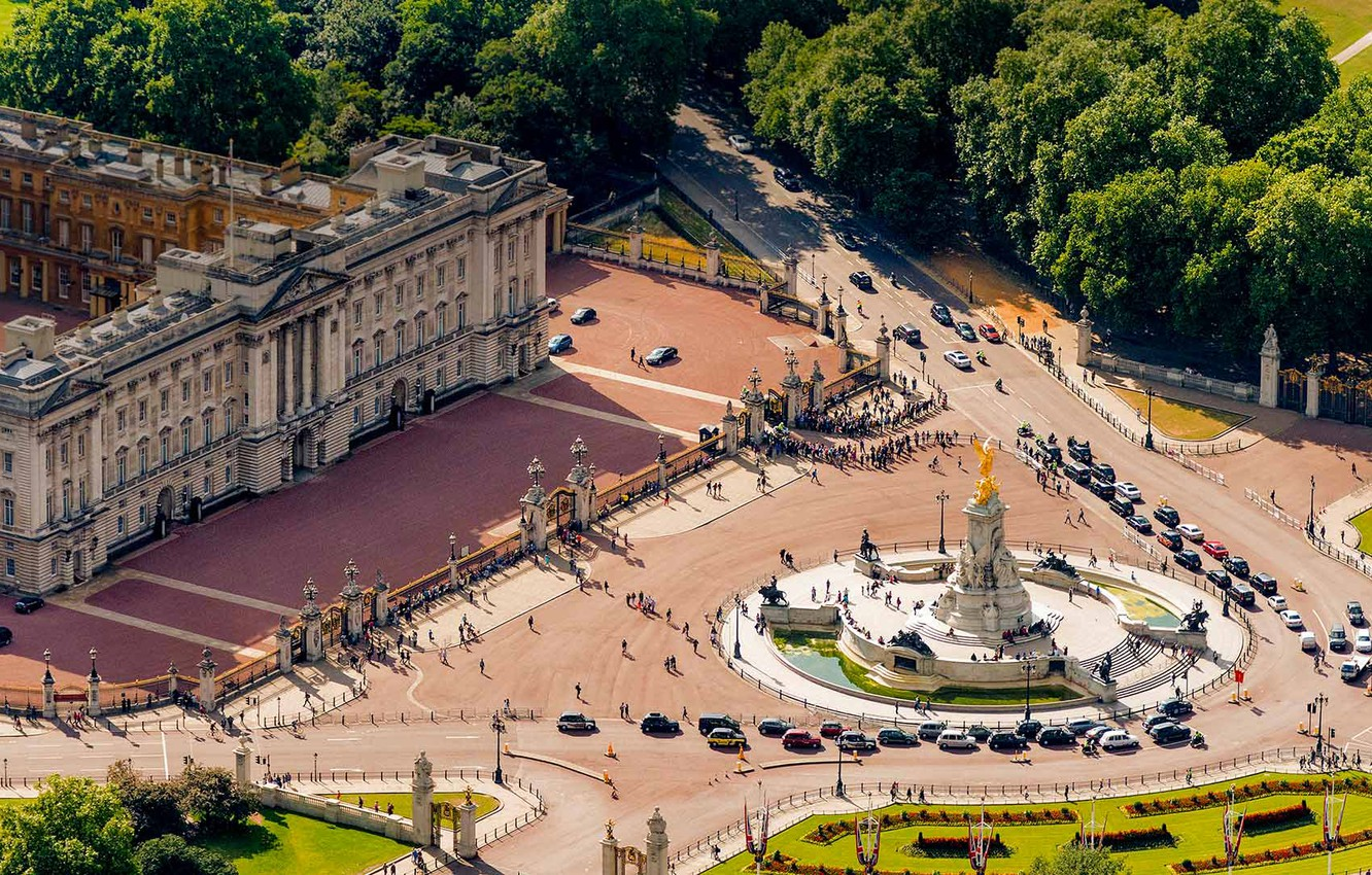 Photo wallpaper London, Buckingham Palace, Victoria Memorial