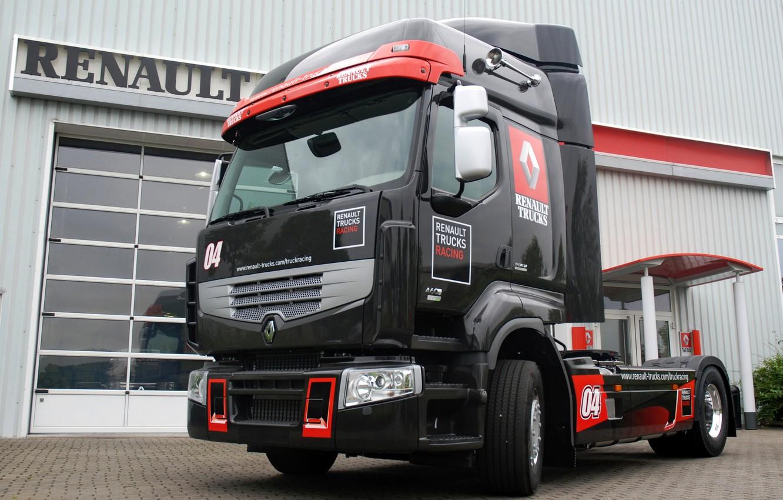 Photo wallpaper black, truck, Renault, tractor, Renault Trucks, Premium Optiracer