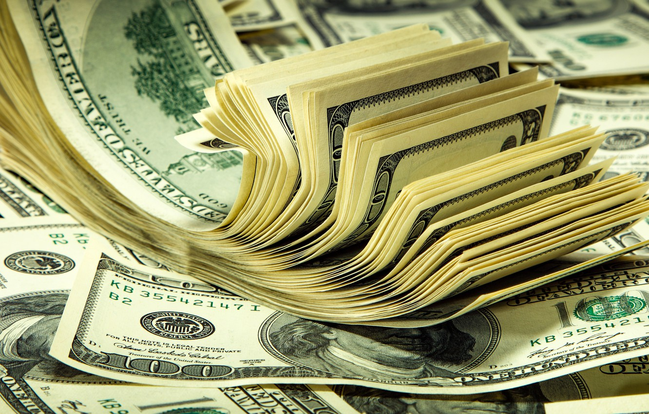Photo wallpaper money, dollars, cash, United States currency