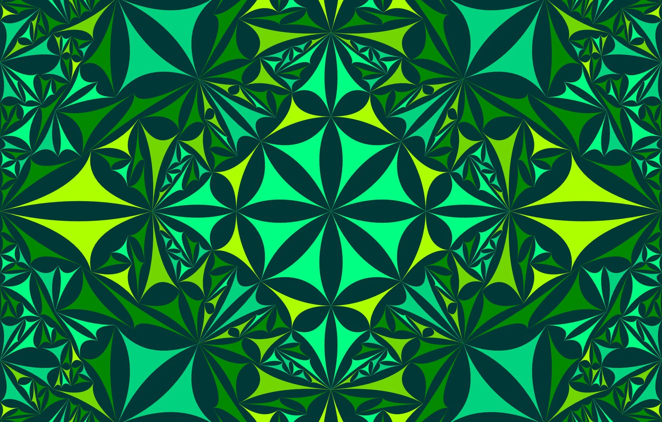 Wallpaper Abstraction Green Geometry Kaleidoscope Images