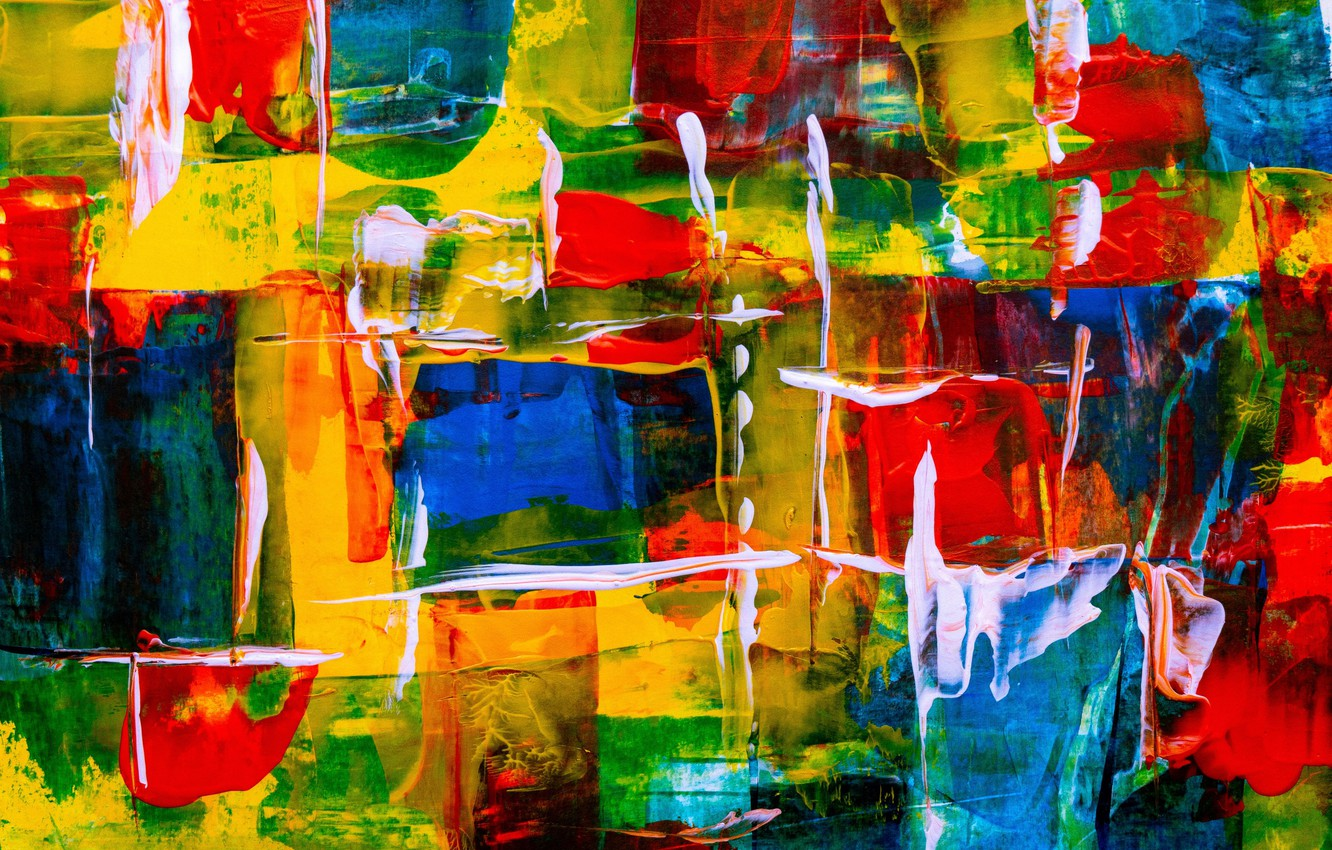 Photo wallpaper line, abstraction, paint, colorful, brush strokes, color texture