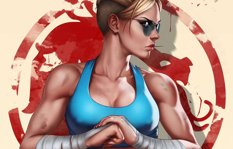 Photo wallpaper girl, art, Mortal Kombat, Cassie Cage, Cassie Cage, by Dandonfuga