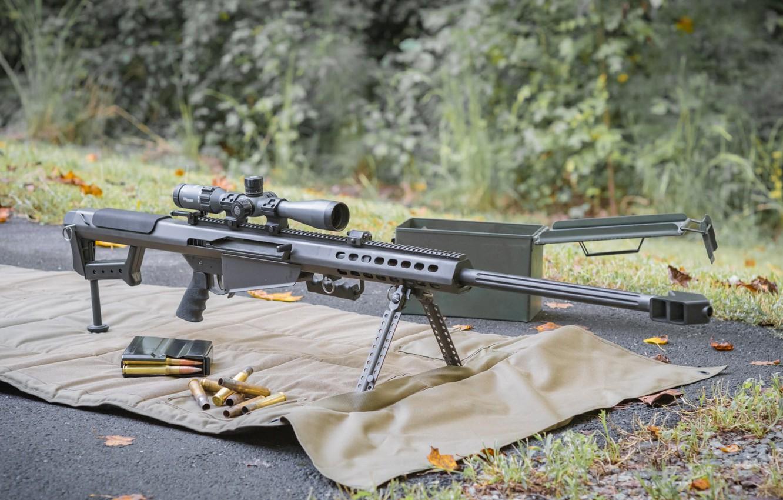 Photo wallpaper weapons, weapon, Barrett, sniper rifle, Barrett, sniper rifle, M82A1