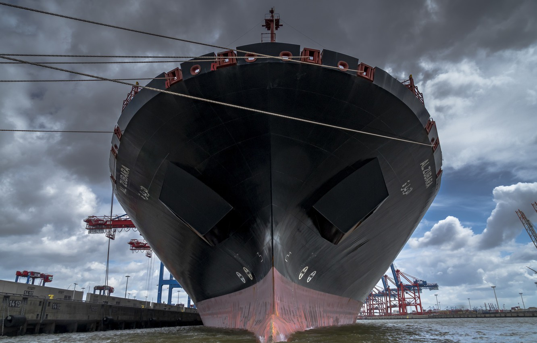 Photo wallpaper water, ship, port, Hamburg
